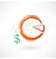financial schedule grunge icon vector image