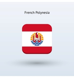 French Polynesia flag icon vector