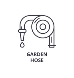 garden hose line icon outline sign linear symbol vector image