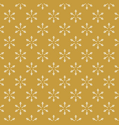golden background with snowflakes seamless vector image