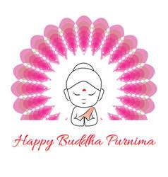 Happy buddha purnima vector