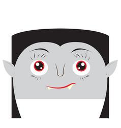 happy halloween cartoon vampire avatar vector image