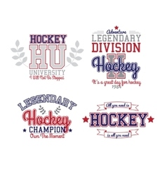 Ice Hockey Badge vector