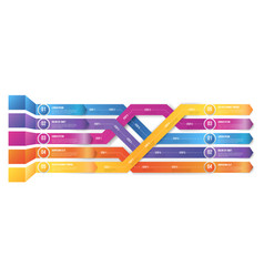 Infografics arrows shuffled vector