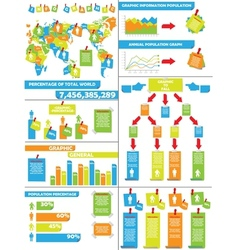 Infographic demographics post it vector