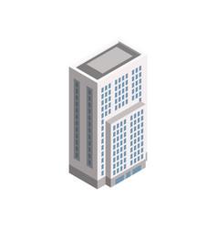 Isometric city building vector