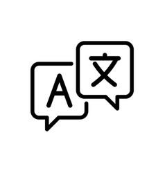 Language translation line icon outline sign vector