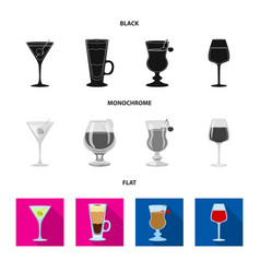 liquor and restaurant sign vector image