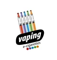 Logo electronic cigarette vector
