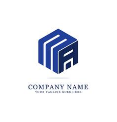 ma initial logo designs creative logo vector image