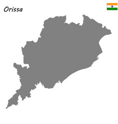 map state india vector image