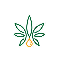 marijuana leaf icon design template isolated vector image