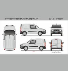 Mercedes citan cargo van l1h1 2012-present vector