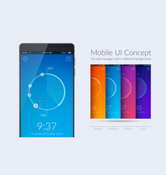 Mobile ui kit vector