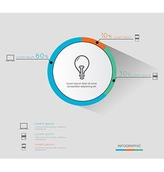 Modern infographic for business project vector image