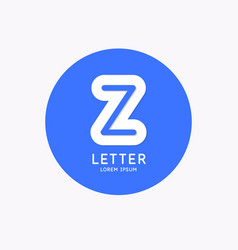 modern linear logo and sign letter z vector image