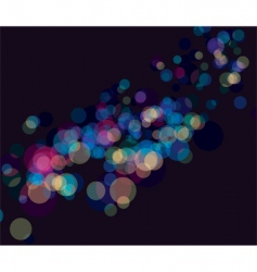 Multi color booked lights background vector