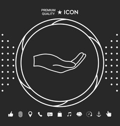 open hand - line icon graphic elements for your vector image