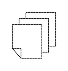 paper document blank sheet design vector image