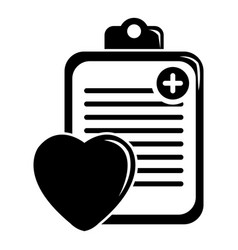 patient card icon simple black style vector image