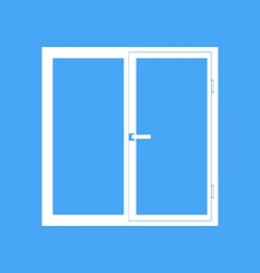 Plastic window on a blue background vector