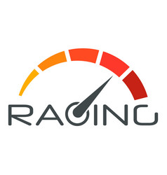 racing speedometer logo flat style vector image