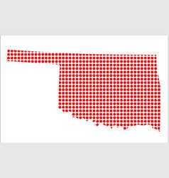 red dot map of oklahoma vector image
