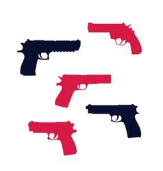 Revolver pistol gun handguns vector