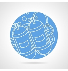 Round icon for aqualung vector image