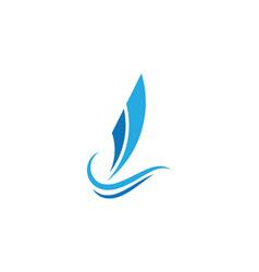 sailling logo vector image