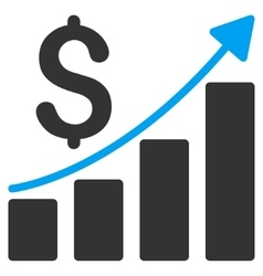 Sales Growth Chart Flat Icon vector image