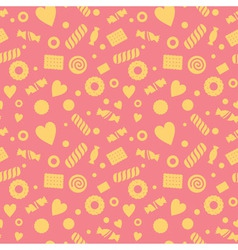 Seamless pattern with candy and cookies vector image
