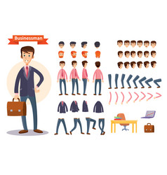 Set of cartoon for creating vector