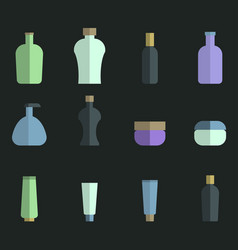 set of colored icons for bathroom tools vector image