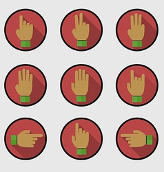 Set of flat hands make number vector