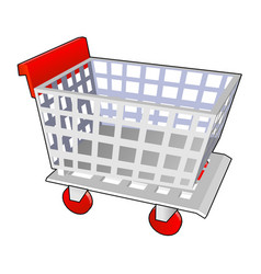 shopping cart red vector image