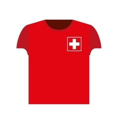 Swiss football player shirt icon vector image