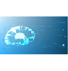 Technological abstract brain electronic background vector