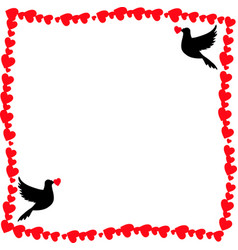 Template with doves and copy space for valentines vector
