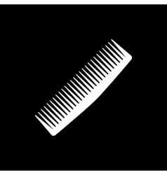 The comb icon Barbershop symbol Flat vector image