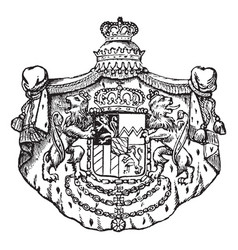 the great seal of bavaria is a european coat vector image