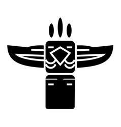 Totem - native american icon vector