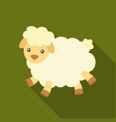 Toy sheep icon in flate style isolated on white vector
