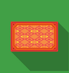 Turkish carpet icon in flate style isolated on vector