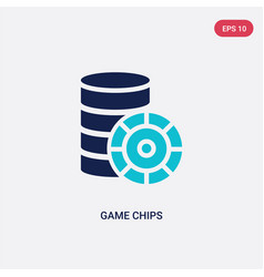 two color game chips icon from entertainment vector image