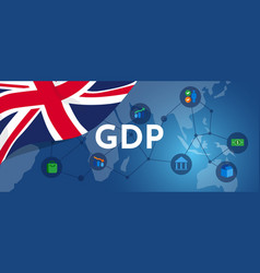 uk britain gdp gross domestic product economic vector image