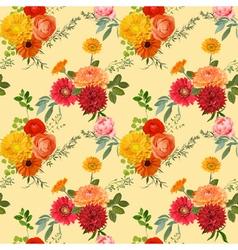 Vintage Colorful Floral Background vector image