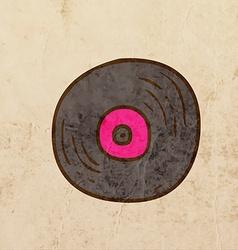Vinyl Record Cartoon vector image