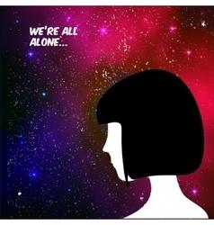 We are all alone concept vector