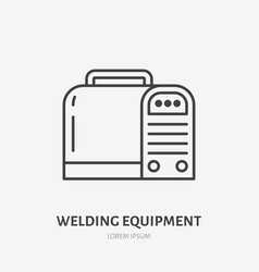 welding equipment flat line icon metal works sign vector image